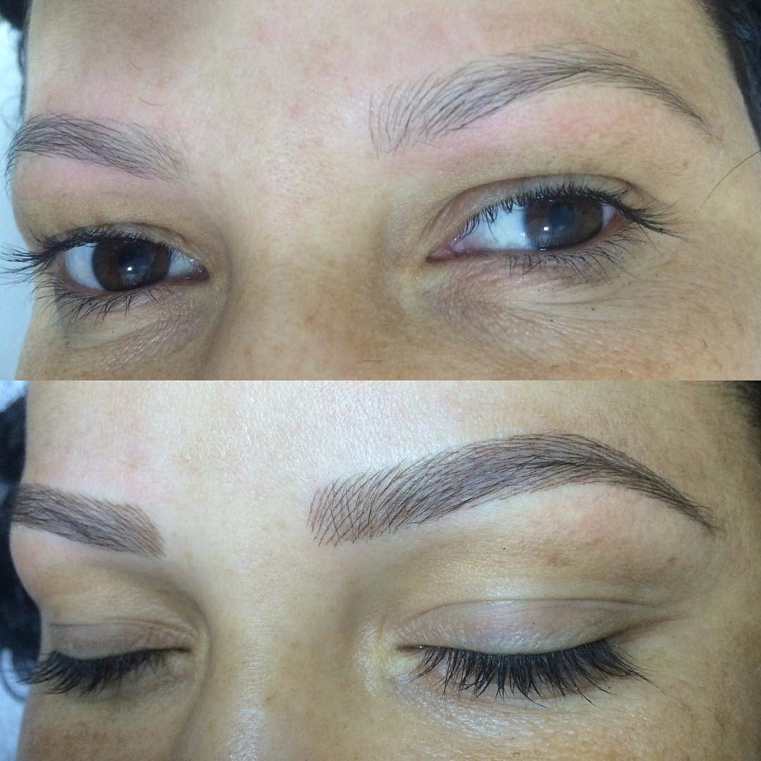 microblading refresher before and after