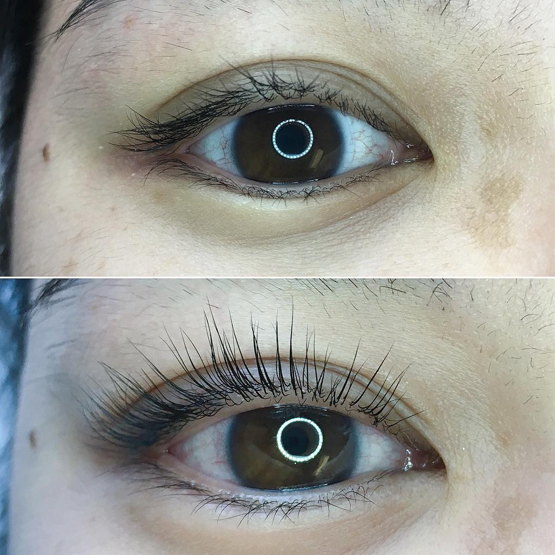 eyelash lifting before and after 1